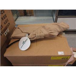 Case of 12 New Compact Beige Umbrellas