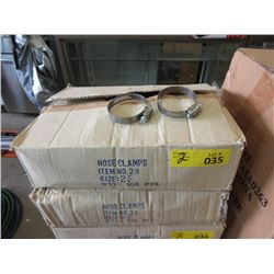 "2 Cases of 2-1/4"" Hose Clamps - 100 Per Case"