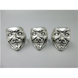3 New Guy Fawkes Rings/Anonymous