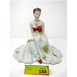 "Royal Dux Czechoslovakia 10"" China Statuette"