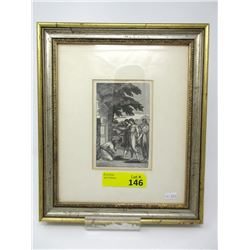 Antique Wood Engraving by John H. Hall Circa 1800