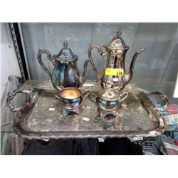 Silver Plated Tea and Coffee Service with Tray
