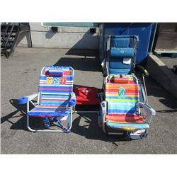 Patio Lounger & 2 Beach Chairs