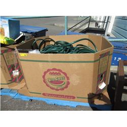 Skid of Garden Hoses & an End Table