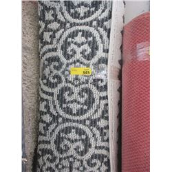 2-Tone Grey Broadloom Area Carpet