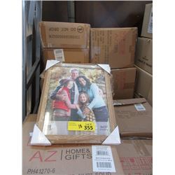 "10 Cases of 12 New 8"" x 10"" Oak Picture Frames"