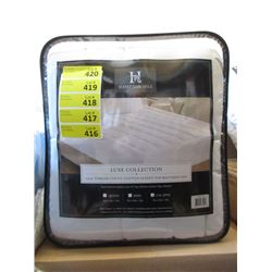 New King Size Cotton Sateen Top Mattress Pad