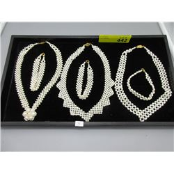 3 New Pearl Necklaces & 3 Pearl Bracelets