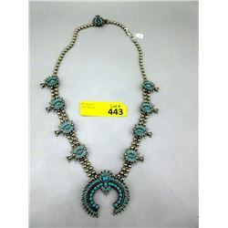 32 Inch Well Made Faux Squash Blossom Necklace