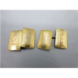 Pair of Antique Art Deco 10KT Gold Cuff Links