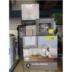 Solar Orb & 3 Fans - Store Returns