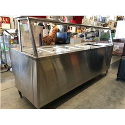 8 Foot Stainless Steel Steam Table