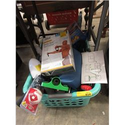 Basket of Assorted Household Merchandise