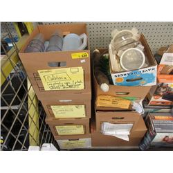 7 Boxes of Assorted Set Decorations