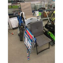 7 Assorted Patio & Folding Chairs - Store Returns