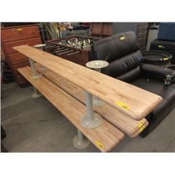 8 Foot Gym Bench with Metal Legs