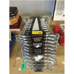 3 New Vanadium SAE/Metric Offset Wrench Sets