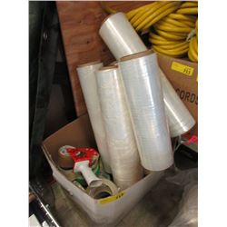 Box of Shrink Wrap & Packing Tape