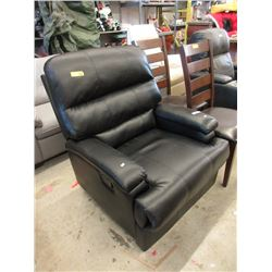 Black Bonded Leather Manual Recliner