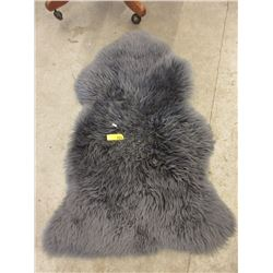 Grey Sheepskin Area Carpet - Store Return