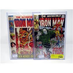 "1969 ""Ironman #18 & #19"" 15¢ Marvel Comics"