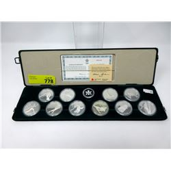 1988 Sterling Silver Calgary Olympics Coin Set