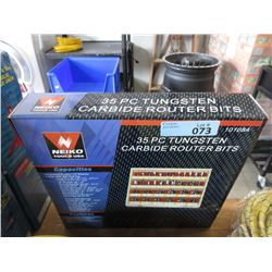 New 35 Piece Carbide Router Bits