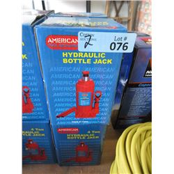 2 New 4 Ton Hydraulic Bottle Jacks