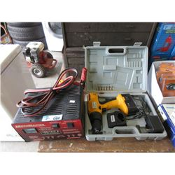 Cordless Drill & MotoMaster Battery Charger