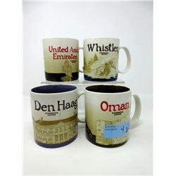 4 Collectable Starbucks 16 oz. Mugs
