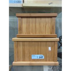 2 Traditional Wood Cremation Urns