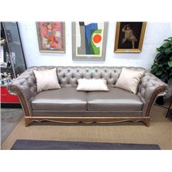 """New Upholstered Button Tufted Sofa  - 91"""" Wide"""