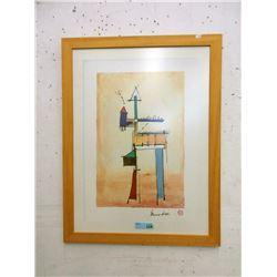 Vintage Bruno Haas Wood Framed Print