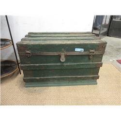 Vintage Slat Shipping Trunk ca1910