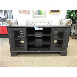 Compact Grey Entertainment Stand