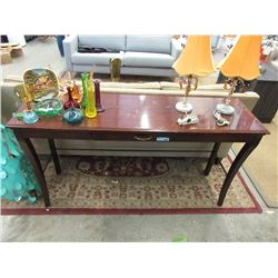 Wood Console / Hall Table with Drawer