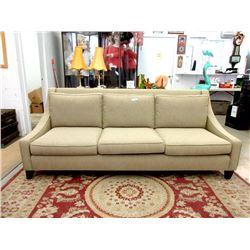 New Fabric Upholstered Sofa - 7 Foot Long