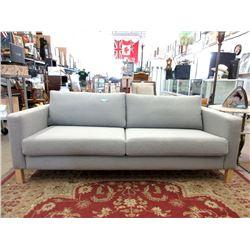 "New Grey Fabric Upholstered Sofa - 81"" Long"