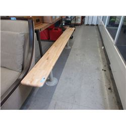 8 Foot Long Gym Bench with Metal Legs