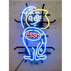 """New Electric Neon """"Esso"""" Sign - 12 x 18"""""""