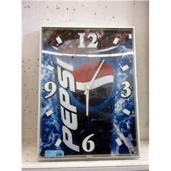 Metal Framed Pepsi Advertising Wall Clock