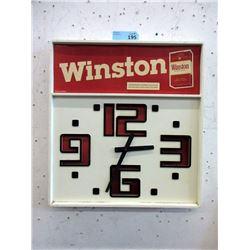 "Vintage Winston Cigarette Wall Clock - 20 x 14"""
