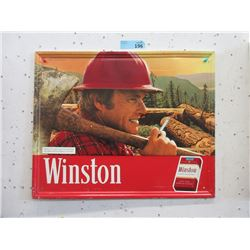 1980 Embossed Metal Winston Cigarette Sign