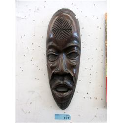 Carved Wood African Wall Mask
