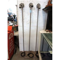 """Three 66"""" Tall Industrial Style Floor Lamps"""