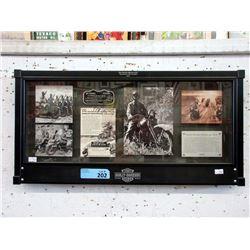 Trev Deeley Harley Davidson Framed Memorabilia