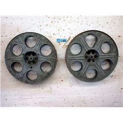 """Two 15"""" Metal Film Reels"""