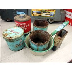 Enameled Pot, Goodrich Can and More