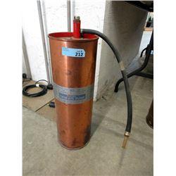 Vintage Copper Hand Pump Fire Extinguisher