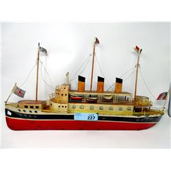 Vintage Pressed Steel Ship